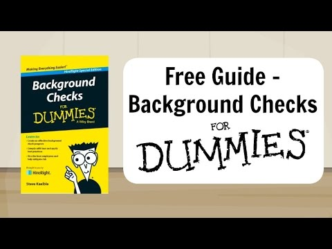 Background Checks For Dummies