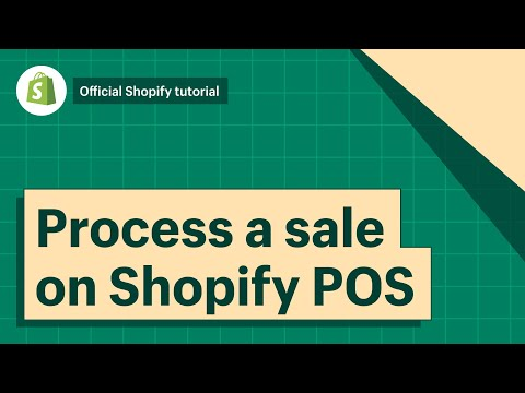 POS: How to process a sale || Shopify Help Center