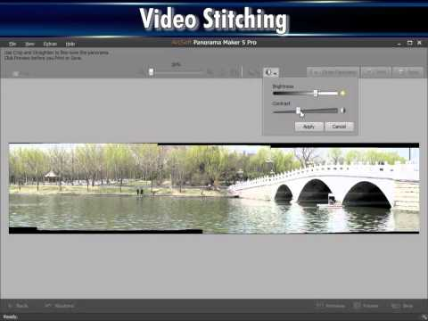 Stitch video into a panorama