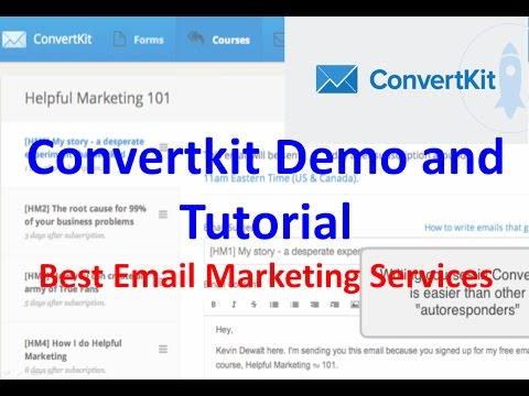 Convertkit Demo and Tutorial | Best Email Marketing Services