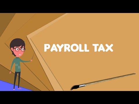What is Payroll tax? Explain Payroll tax, Define Payroll tax, Meaning of Payroll tax