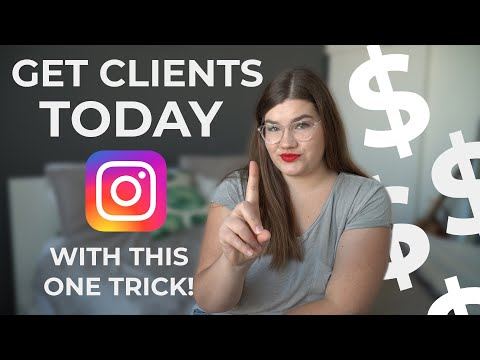 ONE Instagram tip that will get you more clients TODAY