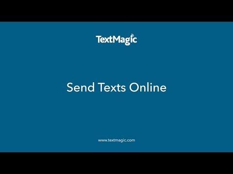 How to Send Texts Online - TextMagic
