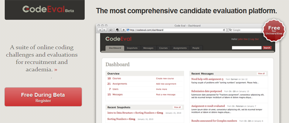 CodeEval - Featured on  StartUpLift