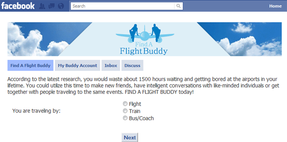 Find A Flight Buddy  - Featured on StartUpLift