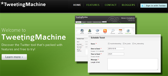 TweetingMachine - Featured on StartUpLift