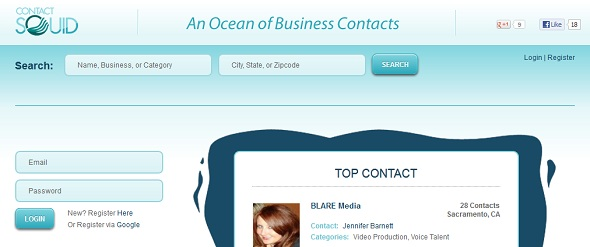 ContactSquid - startup featured on StartUpLift for startup feedback and website feedback