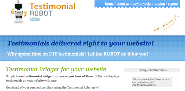 TestimonialRobot-startup-featured-on-StartUpLift-for-Startup-Feedback-and-Website-Feedback