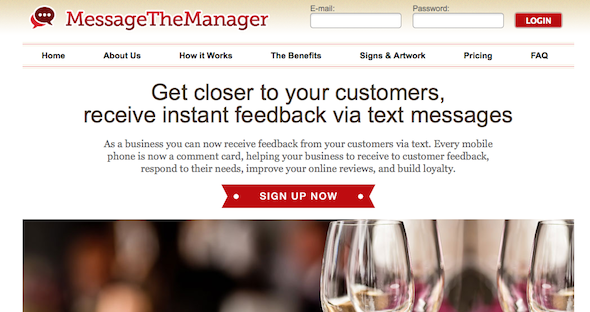 Message the Manager - startup featured on startuplift for website feedback & startup feedback