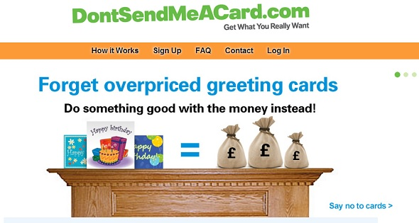 donotsendmeacard - startup featured on StartUpLift for startup feedback and website feedback