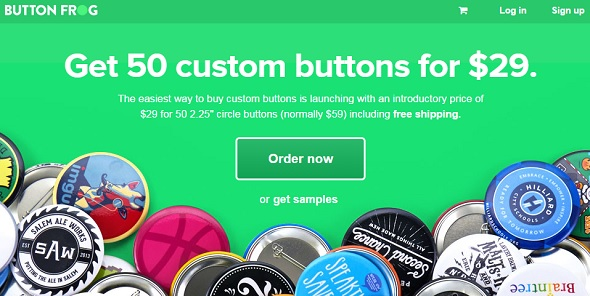 Button Frog - startup featured on StartUpLift for startup feedback and website feedback